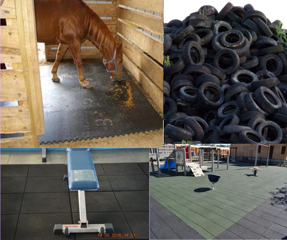 Pavimenti in gomma riciclata con PFU
